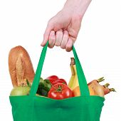 Reusable Shopping Bag Filled With Fruits And Vegetables