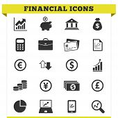Set de iconos financiero Vector