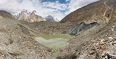 Lake On Top Of Baltoro Glacier, Pakistan