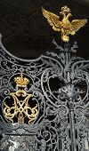 Wrought Gold Russian Empire Crown And Golden Eagle - The Symbol Of Russian Federation