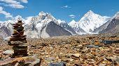 Cairn In The Karakorum Mountains, Pakistan