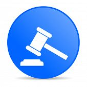 lei círculo azul web glossy icon