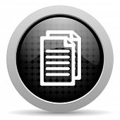 document black circle web glossy icon