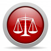 justice red circle web glossy icon
