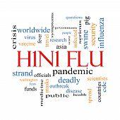 H1N1 Flu Word Cloud Concept