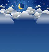 Luna nublada