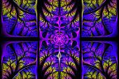 Fabulous Fractal Pattern. Collection - Tree Foliage. Computer Generated Graphics.