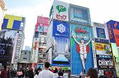 Osaka, Japan - Oct 23: The Glico Man Running Billboard And Other Neon Displays