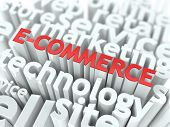 E-Commerce. El concepto de negocio de Wordcloud.