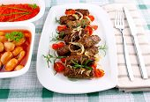 Grilled Cevapcici With Ajvar And Giant White Beans