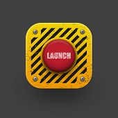Launch button icon.  Vector eps10