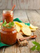 Salsa Sauce And Tortilla Chips