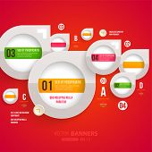 Modern infographic template for business design. Can be used for banners, cards, paper designs, webs