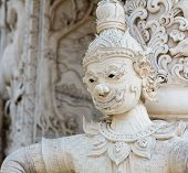 White Giant Statue In Thailand