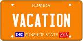 Vacation Florida License Plate