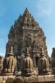 Decorated Wall And Roof Of Prambanan Temple, Indonesia