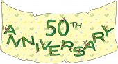 image of 50th  - a Illustration with banner for 50th anniversary - JPG