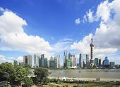 Lujiazui Finance&trade Zone Of Shanghai Landmark Skyline At New City Landscape