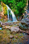 Постер, плакат: Водопад Джур Джур в тропических лесах Украина Крым
