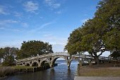 stock photo of whalehead club  - The footbridge in Corolla - JPG