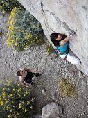 Climbing in pair
