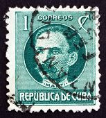 Postage Stamp Cuba 1917 Jose Marti, Revolutionary