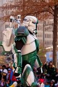 Armored Star Wars Character Walks In Atlanta Christmas Parade