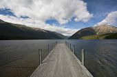 Jetty On Lake Rotoiti, Tasman, New Zealand