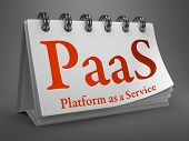 Desktop Calendar with PAAS Concept.