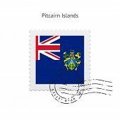 Pitcairn Islands Flag Postage Stamp.