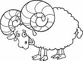 Zodiac Aries Or Ram Coloring Page
