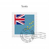 Tuvalu Flag Postage Stamp.
