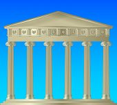 picture of ionic  - buildings from ancient Greece to the columns in the Ionic style - JPG