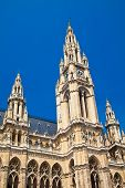 Towers Of Rathaus In Vienna