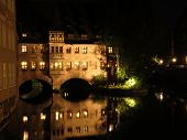 House arches over the river in Nuremberg
