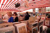 Vintage Posters Market In Nice, France