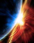Supernova near planet