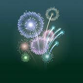 Fireworks, eps10 vector