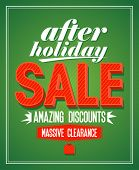 stock photo of 70-year-old  - Retro design after holiday sale - JPG