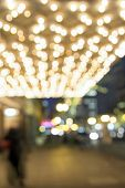 foto of broadway  - Old Historic Theater Marquee Ceiling with Blurred Defocused Bokeh Blinking Lights on Broadway Portland Oregon Downtown - JPG