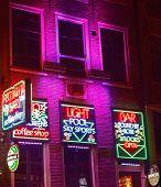 Red Light Bar In Amsterdam