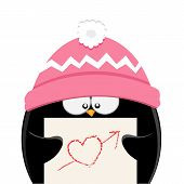 Penguin With Heart Shape