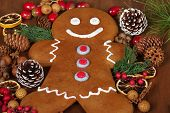 Gingerbread man with Christmas potpourri
