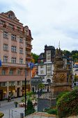Trziste street of Karlovy Vary, Czech republic