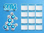 Happy New Year 2014 calendar..