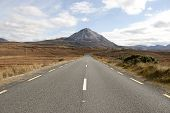 Road To The Errigal Mountains In County Donegal Ireland