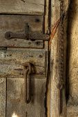 Old Rusty Door Latch