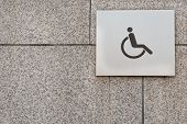Wheelchair sign on the wall