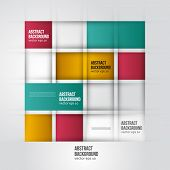 Vector abstract background. Square color geometric