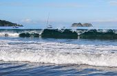 stock photo of papagayo  - Waves of Pacific Ocean - JPG